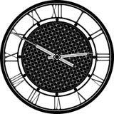 Rétro horloge avec Roman Dial Images libres de droits