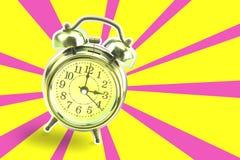 Rétro horloge d'alarme Images libres de droits