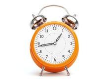 Rétro horloge orange Photo stock