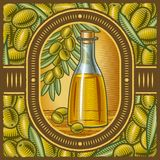 Rétro huile d'olive Image libre de droits