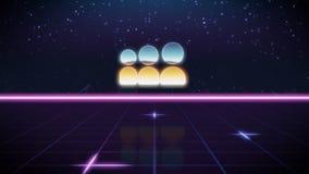 rétro icône de conception de synthwave de myspace images libres de droits