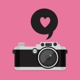 Rétro icône d'appareil-photo Photographie stock