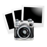 Rétro icône d'appareil-photo avec des photos d'isolement illustration libre de droits