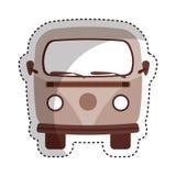 rétro icône de van vehicle Photographie stock