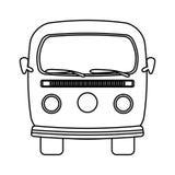 rétro icône de van vehicle Image libre de droits