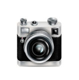 Rétro icône simple d'appareil-photo d'isolement illustration stock