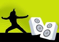 Rétro illustration de disco Photo libre de droits