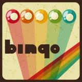 Rétro illustration de jeu de bingo-test ou de loterie illustration libre de droits