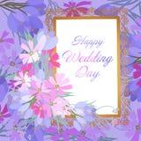 Rétro illustration de style avec des fleurs Image stock