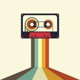 Rétro illustration de style de vintage de cassette Photos stock