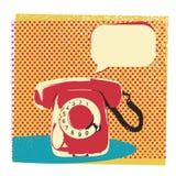 Rétro illustration de téléphone avec la bulle pour le texte illustration libre de droits