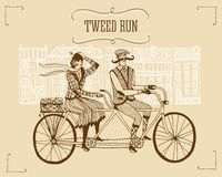 Rétro illustration de tour de tweed Photo libre de droits