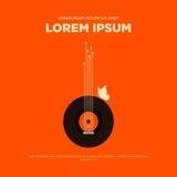 Rétro illustration de vecteur d'affiche de musique de vintage abstrait Image libre de droits