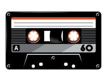 Rétro illustration de vecteur d'enregistreur à cassettes de cru sur le fond blanc illustration de vecteur