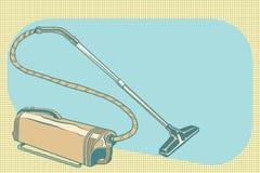 Rétro illustration de vintage d'aspirateur illustration libre de droits