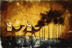 Rétro illustration ethnique africaine de vintage Images libres de droits