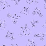Rétro illustration noire de vecteur de bicyclettes Illustration Stock