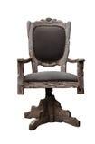 Rétro image dénommée d'une chaise de bureau d'isolement sur un fond blanc Photographie stock libre de droits