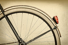 Rétro image dénommée d'une roue arrière de bicyclette Photo libre de droits