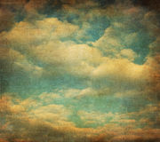 Rétro image de ciel nuageux Photographie stock