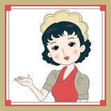 Rétro image de serveuse du Japon illustration libre de droits