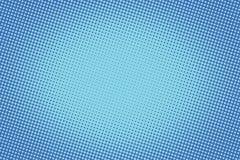 Rétro image tramée bleue comique de gradient de trame de fond illustration libre de droits