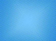 Rétro image tramée bleue comique de gradient de trame de fond, vect courant illustration stock