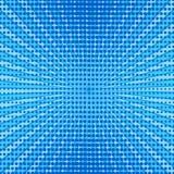 Rétro image tramée bleue comique de gradient de trame de fond, vect courant illustration libre de droits
