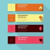 Rétro infographics plat de vintage Image libre de droits