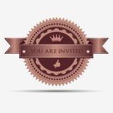 Rétro insigne et label d'invitation Photos stock