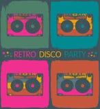 Rétro invitation de réception de disco Photos stock