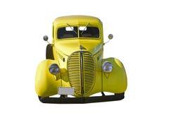 rétro jaune de camionnette de livraison avant Image libre de droits
