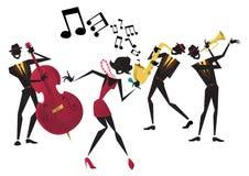 Rétro Jazz Festival Poster abstraite Photos stock