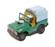 Rétro jeep de militaires de jouet Image libre de droits
