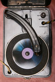 Rétro joueur de vinyle Photos libres de droits