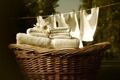 Rétro jour de lavage Photographie stock libre de droits