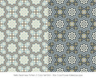 Rétro kaléidoscope sans couture de fleur de croix d'étoile de la couleur Set_044 du modèle 2 Photo libre de droits