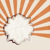 Rétro label avec le fond de starburst Images libres de droits