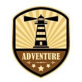 Rétro label d'aventure Photographie stock