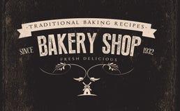 Rétro label de boulangerie de vintage illustration de vecteur
