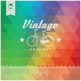 Rétro label de hippie de vintage, typographie, dessin géométrique Photo libre de droits