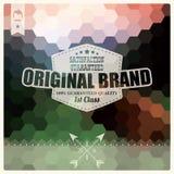 Rétro label de hippie de vintage, typographie, dessin géométrique Photos libres de droits