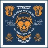 Rétro label de moto, insigne et éléments de conception illustration de vecteur