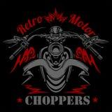 Rétro label de moto, insigne et éléments de conception illustration stock