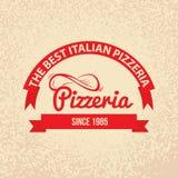 Rétro label de vintage de cuisine italienne Photos libres de droits