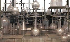 Rétro laboratoire 3d Photos libres de droits