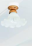 Rétro lampe blanche Photos libres de droits