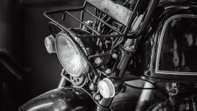 Rétro lampe de phare de moto de vintage image stock