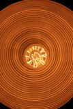 Rétro lampe légère avec la vue d'ampoule d'Edison du fond photos libres de droits
