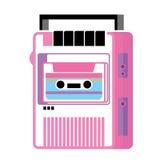 Rétro lecteur de cassettes de musique Images libres de droits